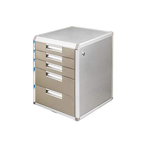 LUUDE Aluminium aktenschrank, mehrschichtige schublade datenschrank Desktop büroschrank mit Schloss...
