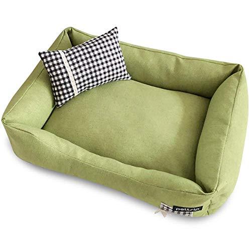 YXZQ Hundebetten, hochwertiges therapeutisch unterstützendes Bett, lindert Haustierarthritis, maschinenwaschbare Abdeckung, atmungsaktive Baumwollmischung, abnehmbar und leicht zu reinigen, grün,