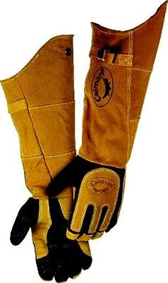 """Caiman 1878 21"""" Deerskin Specialty Welders Gloves"""