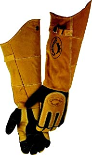 Caiman 1878-5 21-Inch One Size Fits All Genuine American Deerskin Welding Glove with..