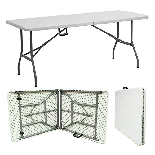 JANOON HEAVY DUTY 6FT FOLDING CATERING CAMPING KITCHEN TABLE TRESTLE PICNIC PARTY
