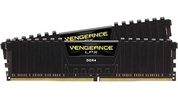 Corsair Vengeance LPX 16GB  2x8GB  DDR4 DRAM 3200MHz C16 Desktop Memory Kit - Black  CMK16GX4M2B3200C16
