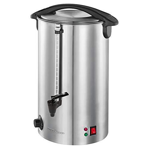 PROFI COOK PC-HGA 1196 - Distributeur de boissons chaudes - Réservoir automatique 7 l - en acier inoxydable - 1500 Watts - Couleur Argenté