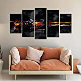 Gxucoa Creative Gift 5 Piece Canvas Print Hd Picture Living