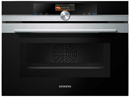 Siemens CM676G0S1 iQ700 Mikrowelle / 1000 W / 45 L Garraum / activeClean - die Selbstreinigungsautomatik für müheloses Reinigen / edelstahl