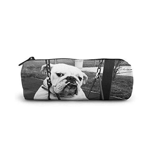 Like A Boss Dog Pencil Case Cylinder Shape Pen Stationery Pouch Bag Zippers Pen Bag Office Stationery Bag Cosmetic Makeup Bag Toiletry Bag Cylinder Women Cosmetic Bag