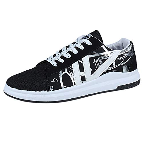 Amazing Deal Men Sports Shoes Lace-Up Mesh Breathable Casual Sneakers Students Non Slip Running Shoe...
