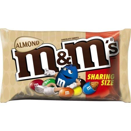 M&M's Almond Chocolate Candy Bag 80.2g