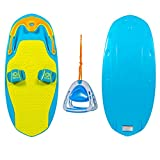 ZUP You Got This 2.0 Blue Board and Combo, All-in-One Kneeboard, Wakeboard, Wakeskate, and Wakesurf Board for All Ages