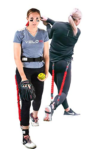 Velopro Softball Training Harness | Resistance Hitting amp Pitching Trainer Adds 47MPH of Batting Power or Pitch Velocity | Improves Swing and Pitching Mechanics | Get Instant Feedback With Each Rep