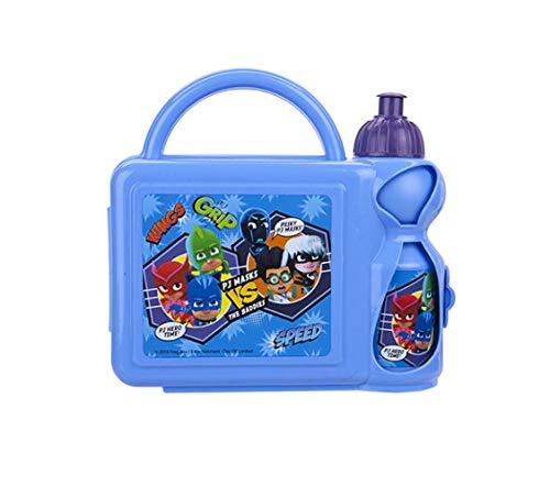 PJ Mask Combo Set Lunchbox mit Sport-Wasserflasche – Kinder Schule Picknickset 3+Y