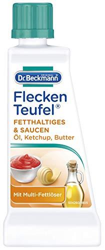 Dr. Beckmann Fleckenteufel Fetthaltiges & Saucen , Spezialfleckentferner gegen Fettflecken, Schokoladen-Flecken (50 ml)