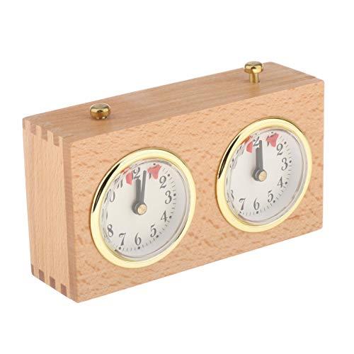 perfeclan Reloj de ajedrez Retro analógico, Reloj mecánico de Cuerda de ajedrez, Reloj Profesional mecánico de conteo hacia Abajo Accesorios Reloj