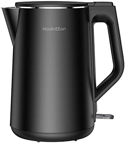HadinEEon 1 5L 6 Cups Electric Kettle 1500W Stainless Steel Interior Double Wall Electric Tea product image