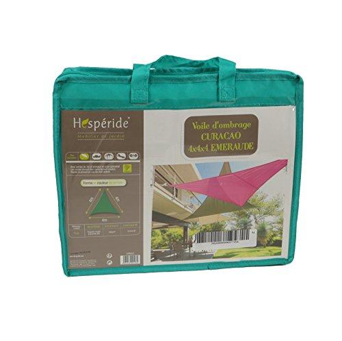 Toldo vela parasol triangular 4 x 4 x 4 m, en tela impermeable - Color AZUL ESMERALDA