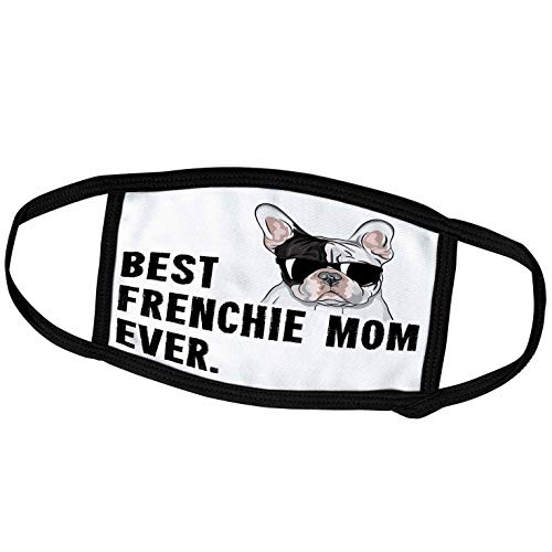 3dRose Face Mask Small, Best Frenchie Mom Ever Funny French Bulldog