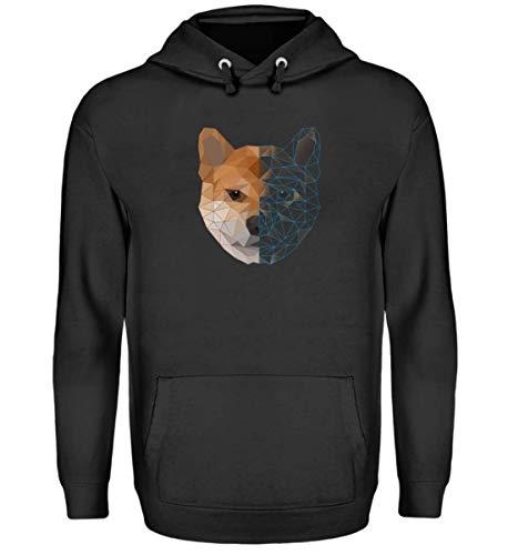 EBENBLATT Polygon Shiba Inu Hund Hunde Liebhaber Dog Geometrie Pullover Overall Besitzer Geschenk - Unisex Kapuzenpullover Hoodie