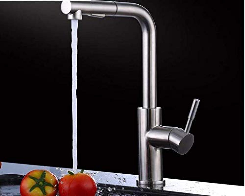 Wasserhahn Badewanne Edelstahl-Herausziehbarer Küchenhahn Heies Und Kaltes Wasser Gemüsebassinhahn (Farbe  -, Gre  -)