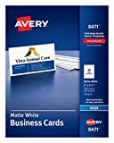 Avery 2' x 3.5' Business Cards, Sure Feed Technology, for Inkjet Printers, 1,000 Cards (8471), Matte White