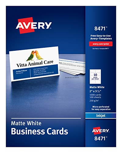 Top inkjet business card paper for 2021