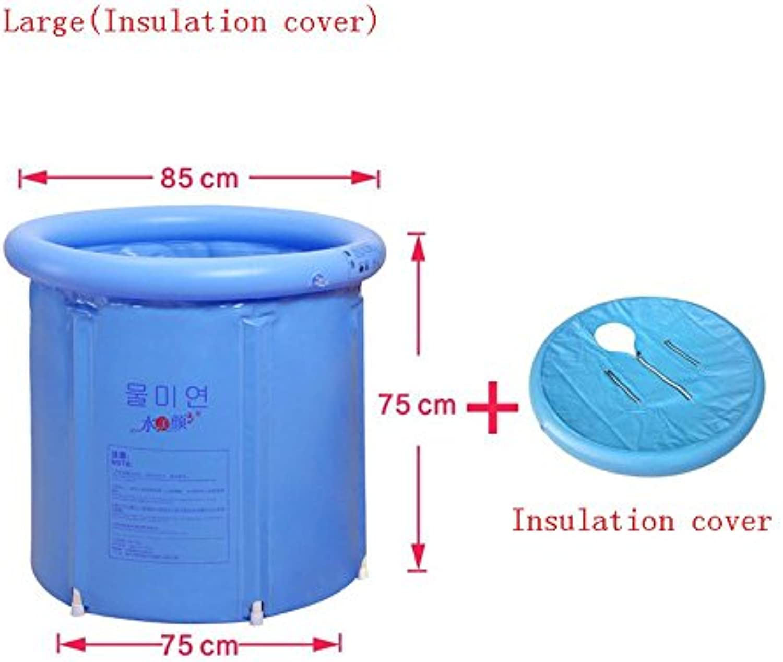 MMM@ Faltbad Badewanne Badewanne aufblasbare Badewanne Dickes Plastikbad Badewanne Bademantel Badewanne (Farbe   Large (Insulation Cover))