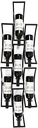 Estantería de vino Tenedor de botella de vino creativo |Rack de copa colgante |Estante de vino Rack de vino europeo Bodega de vino |Sala de estar Estante de vino Botella de vino Rack 7 Bottle Holder A