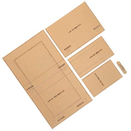 Craft Acryl Schablone Vorlage, bequeme Ledermuster Acryl Vorlage, klar für Handtasche Freunde Verwandte Brieftasche