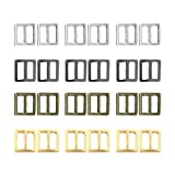 Sewing Mini Buckles, 100pcs Metal Button DIY Patchwork Buckle Handmade Craft Accessories for Doll Clothes Shoes Bags Belt (7mm)