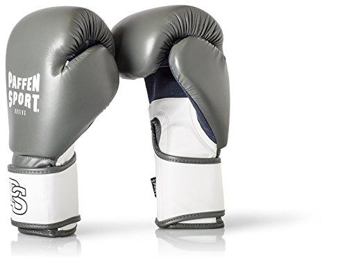 Paffen Sport FIT Boxhandschuhe für das Training; grau/weiß; 12UZ