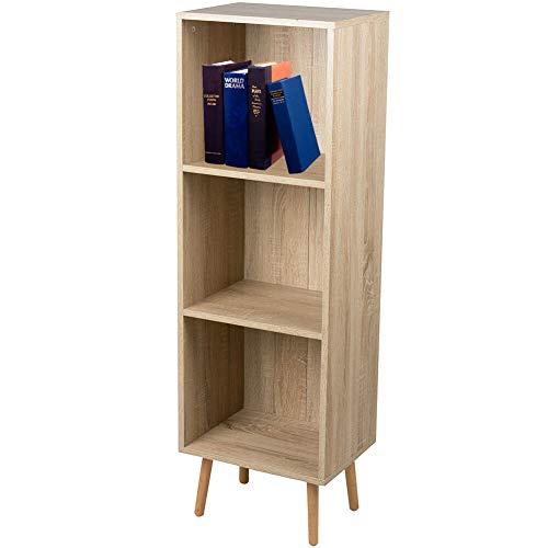 Stylehome Scaffale 3 Mensole MDF 125 x 40 x 30 cm Libreria Casa Soggiorno Camera Arredamento