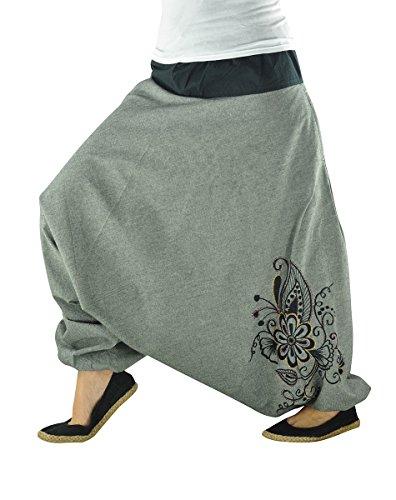 virblatt – Haremshose Damen Hippie Kleidung Yoga Kleidung - Nachtschattengewächs gy