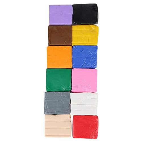 Arcilla polimérica, 12 colores Mano DIY Juguete Modelado Arcilla polimérica DIY Bloques de arcilla para hornear Horno Hornear Arcilla Lanzadera Arte Arcilla Juego de polímeros Arcilla polimérica