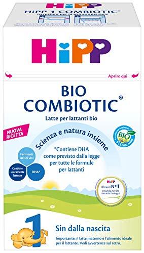 HiPP Latte 1 Bio Combiotic Per Lattanti, In Polvere, 4 Confezioni Da 600 G - 2400 g