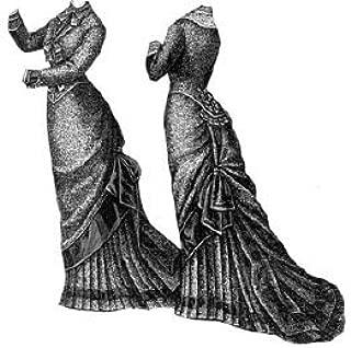 1878 Figured Bourette Reception Dress Pattern