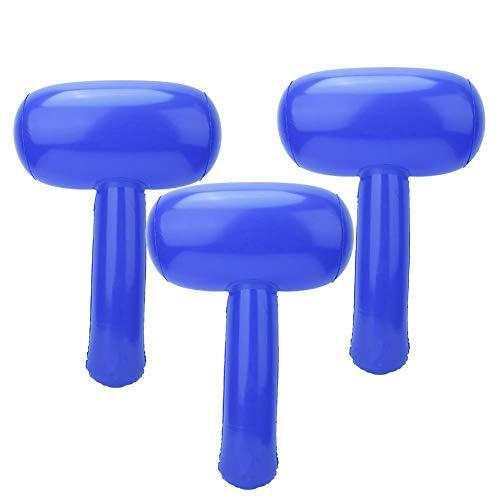 Keen so Martillo hinchable de 3 piezas de PVC con dibujos animados, martillo inflable para niños, juguete hinchable para masaje, martillo hinchable (azul)