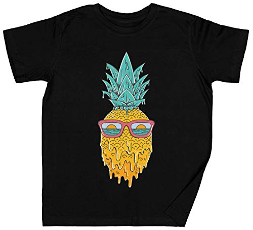 Piña Verano Negro Hombre Camiseta Tamaño XL Black Kid's Boys Girls T-Shirt tee Unisex Size XL