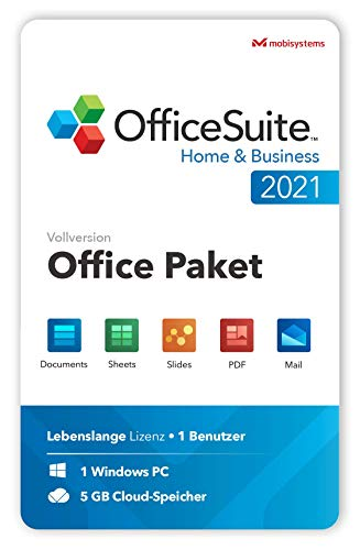 OfficeSuite Home & Business 2021 – Lebenslange Lizenz – Documents, Sheets, Slides, PDF, Mail & Calendar für 1 Windows PC