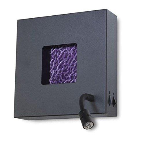 Faro Barcelona Cube dt00056 – Applique murale (Ampoule incluse), métal noir rugueux, Couleur Noir