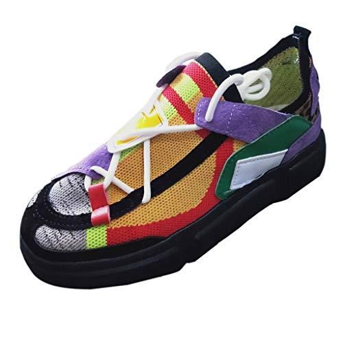 PMUYBHF Stoffschuhe Damen Segelschuhe Casual Slip On Faule Schuhe Komfortabel Bootsschuhe Sommerschuhe Halbschuhe Casual Slippers Flache Canvas Sneaker Freizeitschuhe