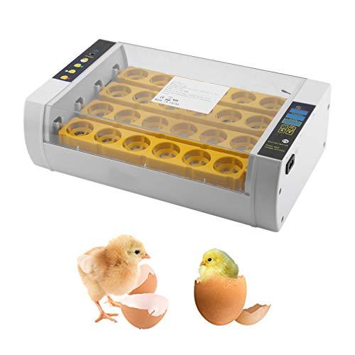 BigButterflyde Brutmaschine,Vollautomatisch Inkubator mit LED Temperaturanzeige, 24 Eier, Inkubationsgerät, Schlüpfen von Küken,Geflügel Hatcher (24 Eier)