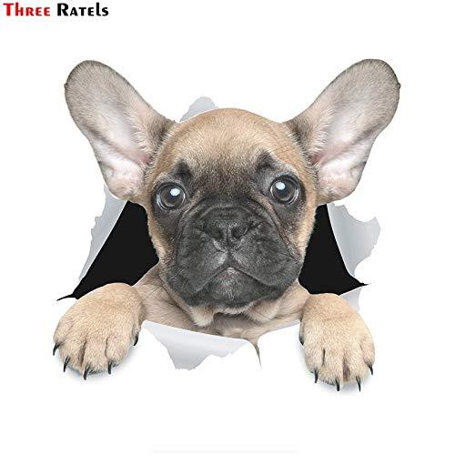 PJYGNK Sticker de Carro FTC-1083 Pegatinas para Perros 3D Pegatina Linda de Bulldog francés para Pared, Nevera, Inodoro y más