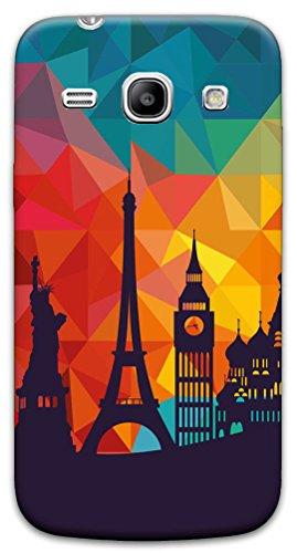 Mixroom - Cover Custodia Case in TPU Silicone Morbida per Samsung Galaxy Core Plus G350 G3500 X371 Monumenti Citta' Famose