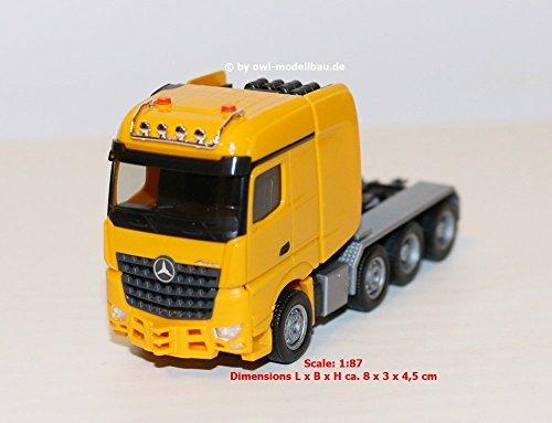 Herpa 307734-002 Mercedes-Benz Arocs Bigspace zware stijve trekker, narcis geel MB SLT Zgm. narzissenge, Gekleurd