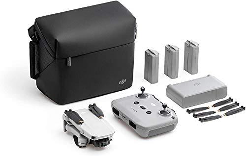 DJI Mavic Mini 2 Fly More Combo – Ultralight Foldable Drone, 3-Axis Gimbal with 4K Camera, 12MP Photos, 31 Mins Flight Time, OcuSync 2.0 10km HD Video Transmission, QuickShots, Gray
