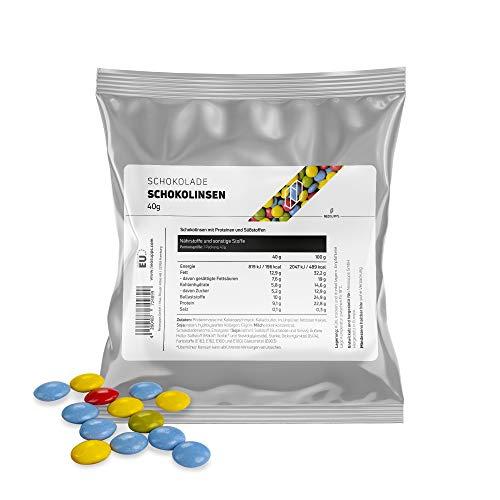 Neosupps Protein-Schokolinsen I gesunder Snack I Zwischenmahlzeit I Proteinreich I gesunde Mahlzeit I Süßigkeiten-Ersatz, Gewicht:40g