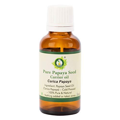 R V Essential Reines Papaya Seed Träger Öl 30ml (1.01 Unzen) - Carica Papaya (100% reines und natürliche Kaltgepresste) Pure Papaya Seed Carrier Oil
