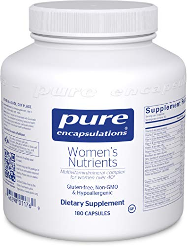 Pure Encapsulations - Women's Nutrients - Hypoallergenic Multivitamin/Mineral Complex for Women Over 40-180 Capsules