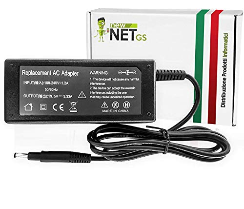 New Net - Alimentatore Caricatore Caricabatteria da 65W 19.5V 3.33A 4.7 x 1x7mm Compatibile con Notebook HP Envy 4-1039TX 1019TX TPN-Q113 TPN-Q114