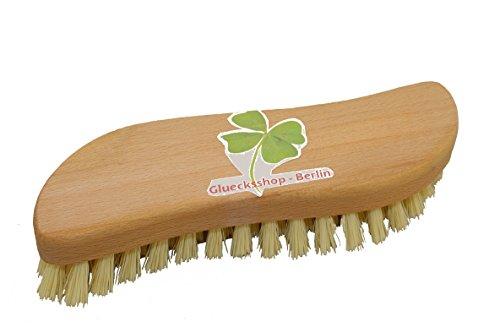 gluecks Shop–Estropajo, raíz Cepillo madera en forma de S Fibre ergonómica para