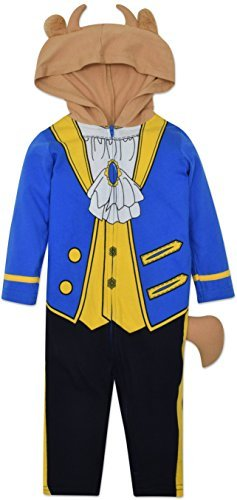 Disney The Beast Prince Baby Boys' Costume Coverall with Hood Blue